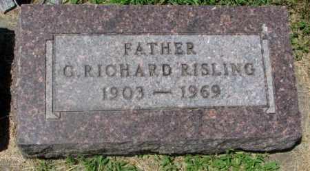 RISLING, G. RICHARD - Yankton County, South Dakota | G. RICHARD RISLING - South Dakota Gravestone Photos