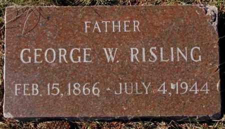 RISLING, GEORGE W. - Yankton County, South Dakota   GEORGE W. RISLING - South Dakota Gravestone Photos