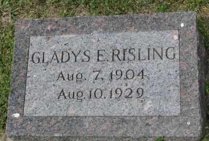 RISLING, GLADYS E. - Yankton County, South Dakota | GLADYS E. RISLING - South Dakota Gravestone Photos