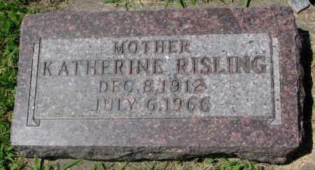 RISLING, KATHERINE - Yankton County, South Dakota   KATHERINE RISLING - South Dakota Gravestone Photos