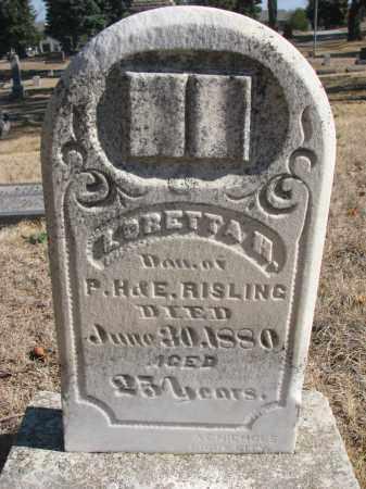 RISLING, LORETTA H. - Yankton County, South Dakota   LORETTA H. RISLING - South Dakota Gravestone Photos