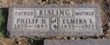 RISLING, PHILIP H. - Yankton County, South Dakota   PHILIP H. RISLING - South Dakota Gravestone Photos