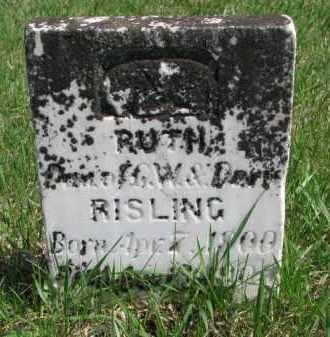 RISLING, RUTH - Yankton County, South Dakota | RUTH RISLING - South Dakota Gravestone Photos