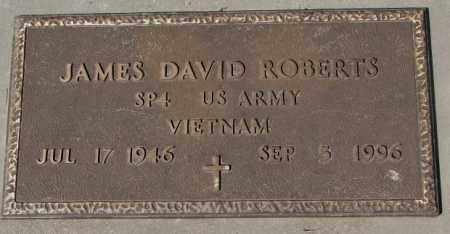 ROBERTS, JAMES DAVID - Yankton County, South Dakota | JAMES DAVID ROBERTS - South Dakota Gravestone Photos