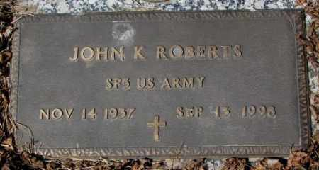 ROBERTS, JOHN K. - Yankton County, South Dakota | JOHN K. ROBERTS - South Dakota Gravestone Photos