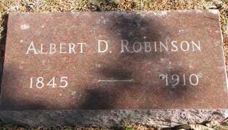 ROBINSON, ALBERT D. - Yankton County, South Dakota | ALBERT D. ROBINSON - South Dakota Gravestone Photos