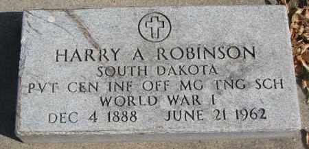 ROBINSON, HARRY A. - Yankton County, South Dakota | HARRY A. ROBINSON - South Dakota Gravestone Photos