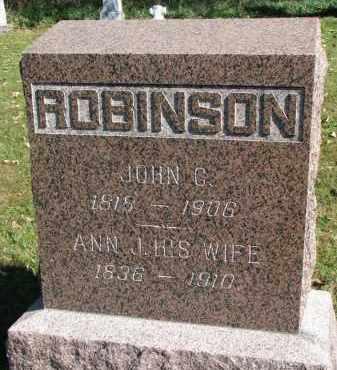 ROBINSON, JOHN C. - Yankton County, South Dakota | JOHN C. ROBINSON - South Dakota Gravestone Photos
