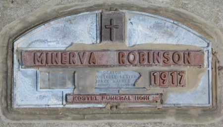 ROBINSON, MINERVA - Yankton County, South Dakota | MINERVA ROBINSON - South Dakota Gravestone Photos