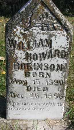ROBINSON, WILLIAM HOWARD - Yankton County, South Dakota | WILLIAM HOWARD ROBINSON - South Dakota Gravestone Photos
