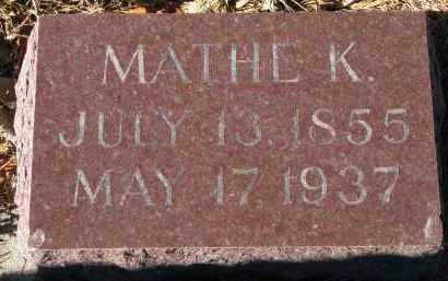 ROKNE, MATHE K. - Yankton County, South Dakota   MATHE K. ROKNE - South Dakota Gravestone Photos