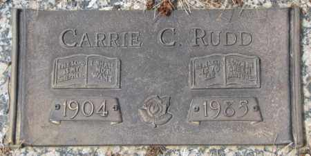 RUDD, CARRIE C. - Yankton County, South Dakota | CARRIE C. RUDD - South Dakota Gravestone Photos