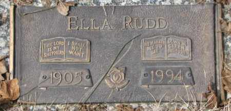 RUDD, ELLA - Yankton County, South Dakota | ELLA RUDD - South Dakota Gravestone Photos