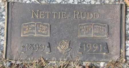 RUDD, NETTIE - Yankton County, South Dakota   NETTIE RUDD - South Dakota Gravestone Photos