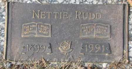 RUDD, NETTIE - Yankton County, South Dakota | NETTIE RUDD - South Dakota Gravestone Photos