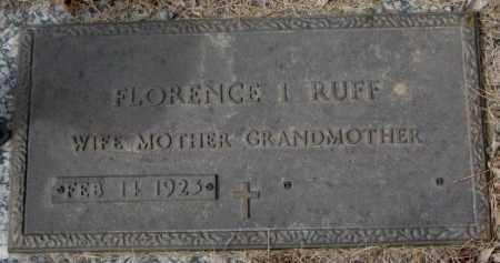 RUFF, FLORENCE I. - Yankton County, South Dakota | FLORENCE I. RUFF - South Dakota Gravestone Photos