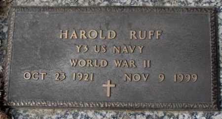 RUFF, HAROLD - Yankton County, South Dakota | HAROLD RUFF - South Dakota Gravestone Photos