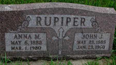 RUPIPER, JOHN J. - Yankton County, South Dakota | JOHN J. RUPIPER - South Dakota Gravestone Photos