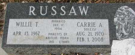 DOLEJSI RUSSAW, CARRIE A. - Yankton County, South Dakota | CARRIE A. DOLEJSI RUSSAW - South Dakota Gravestone Photos