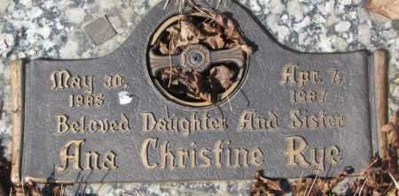 RYE, ANA CHRISTINE - Yankton County, South Dakota | ANA CHRISTINE RYE - South Dakota Gravestone Photos
