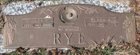 RYE, WILMER T. - Yankton County, South Dakota | WILMER T. RYE - South Dakota Gravestone Photos