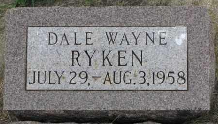 RYKEN, DALE WAYNE - Yankton County, South Dakota | DALE WAYNE RYKEN - South Dakota Gravestone Photos