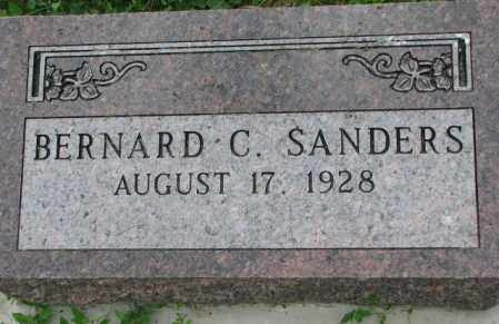 SANDERS, BERNARD C. - Yankton County, South Dakota | BERNARD C. SANDERS - South Dakota Gravestone Photos