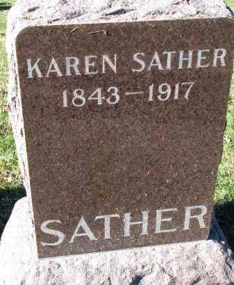SATHER, KAREN - Yankton County, South Dakota   KAREN SATHER - South Dakota Gravestone Photos