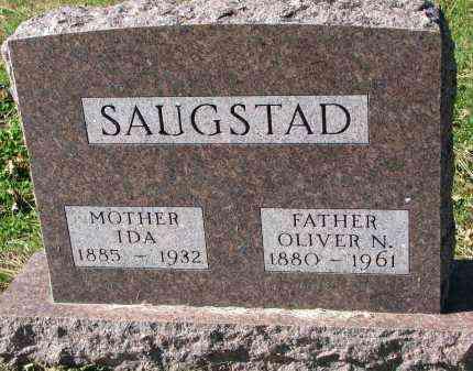 SAUGSTAD, IDA - Yankton County, South Dakota   IDA SAUGSTAD - South Dakota Gravestone Photos