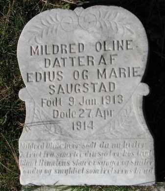 SAUGSTAD, MILDRED OLINE - Yankton County, South Dakota | MILDRED OLINE SAUGSTAD - South Dakota Gravestone Photos