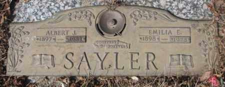 SAYLER, ALBERT J. - Yankton County, South Dakota | ALBERT J. SAYLER - South Dakota Gravestone Photos