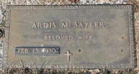 SAYLER, ARDIS M. - Yankton County, South Dakota | ARDIS M. SAYLER - South Dakota Gravestone Photos