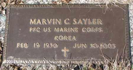 SAYLER, MARVIN C. (MILITARY) - Yankton County, South Dakota   MARVIN C. (MILITARY) SAYLER - South Dakota Gravestone Photos
