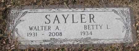 SAYLOR, WALTER A. - Yankton County, South Dakota | WALTER A. SAYLOR - South Dakota Gravestone Photos
