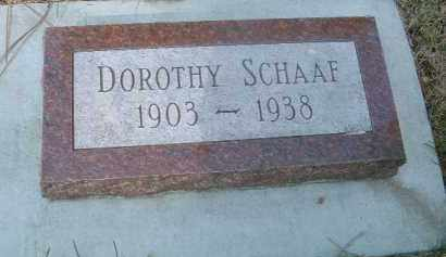 SCHAAF, DOROTHY - Yankton County, South Dakota | DOROTHY SCHAAF - South Dakota Gravestone Photos