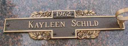 SCHILD, KAYLEEN - Yankton County, South Dakota | KAYLEEN SCHILD - South Dakota Gravestone Photos
