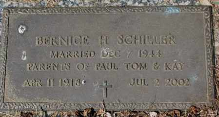 SCHILLER, BERNICE H. - Yankton County, South Dakota   BERNICE H. SCHILLER - South Dakota Gravestone Photos