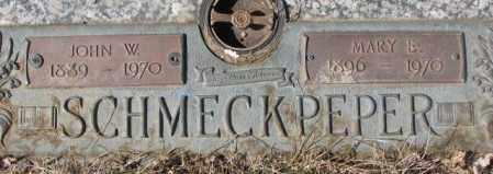 SCHMECKPEPER, JOHN W. - Yankton County, South Dakota | JOHN W. SCHMECKPEPER - South Dakota Gravestone Photos