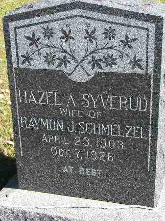 SYVERUD SCHMELZEL, HAZEL A. - Yankton County, South Dakota | HAZEL A. SYVERUD SCHMELZEL - South Dakota Gravestone Photos