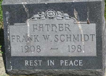 SCHMIDT, FRANK W. - Yankton County, South Dakota | FRANK W. SCHMIDT - South Dakota Gravestone Photos