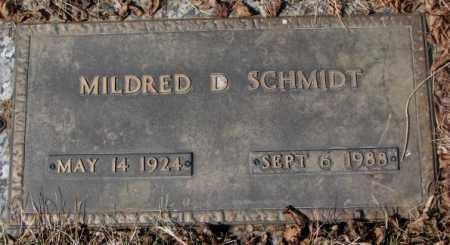 SCHMIDT, MILDRED D. - Yankton County, South Dakota | MILDRED D. SCHMIDT - South Dakota Gravestone Photos