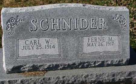 SCHNIDER, FERNE M. - Yankton County, South Dakota | FERNE M. SCHNIDER - South Dakota Gravestone Photos