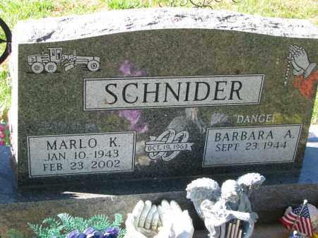 SCHNIDER, MARLO K. - Yankton County, South Dakota | MARLO K. SCHNIDER - South Dakota Gravestone Photos