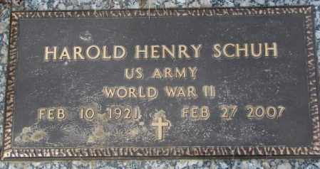 SCHUH, HAROLD HENRY - Yankton County, South Dakota | HAROLD HENRY SCHUH - South Dakota Gravestone Photos