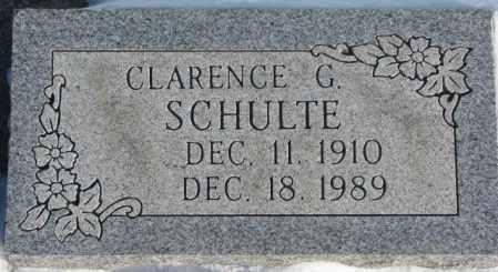 SCHULTE, CLARENCE G. - Yankton County, South Dakota | CLARENCE G. SCHULTE - South Dakota Gravestone Photos