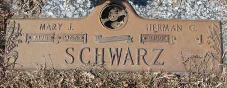 SCHWARZ, MARY J. - Yankton County, South Dakota | MARY J. SCHWARZ - South Dakota Gravestone Photos
