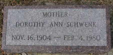 SCHWENK, DOROTHY ANN - Yankton County, South Dakota | DOROTHY ANN SCHWENK - South Dakota Gravestone Photos