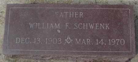 SCHWENK, WILLIAM F. - Yankton County, South Dakota | WILLIAM F. SCHWENK - South Dakota Gravestone Photos