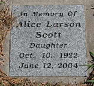 SCOTT, ALICE - Yankton County, South Dakota | ALICE SCOTT - South Dakota Gravestone Photos