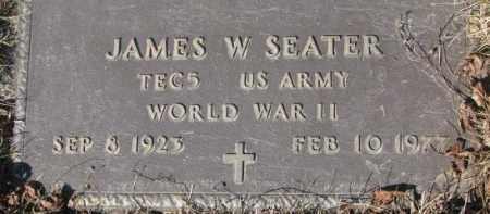 SEATER, JAMES W. - Yankton County, South Dakota | JAMES W. SEATER - South Dakota Gravestone Photos
